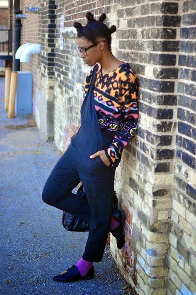 black VJ Style bag - orange Mink Pink sweater