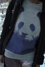 Black-vj-style-bag-heather-gray-purple-panda-free-gold-watch-sweater