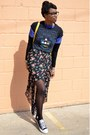 Black-modcloth-tights-yellow-vj-style-bag-black-pacman-thrifted-t-shirt