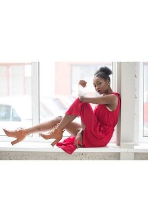 Sheinsidecom dress - Boohoo heels
