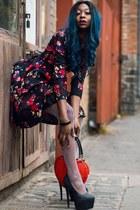 zaful dress - Boohoo heels