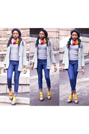 Accessorize hat - Sheinsidecom coat - Boohoo heels - H&M pants