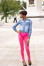 Bershka-jeans-cropp-town-shirt-incity-ring-centro-heels-cropp-town-watch