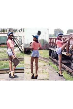 AmiClubWear boots - upfrontcompany hat - Gunit shorts - Bershka blouse
