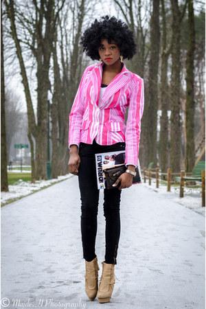 Braska boots - intertop braska blazer - cropp town pants