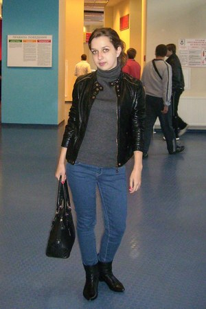 boots - Forever 21 jeans - jacket - bag - jumper