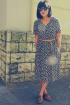 floral thrifted vintage dress - woven Forever New belt