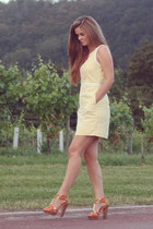 light yellow shift next dress - orange stylistpick sandals