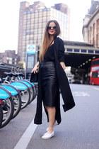 black Boohoo jacket - black whistles skirt