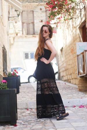black JARLO dress - black new look sandals