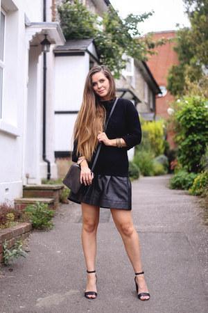 black Boden sweater - black Hobbs skirt