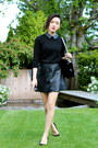 Black-pleather-club-monaco-skirt-black-boy-bag-chanel-bag