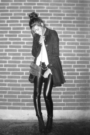 black asos pants