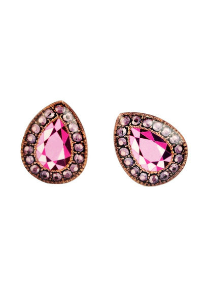 hot pink plastic Ditty Drops earrings