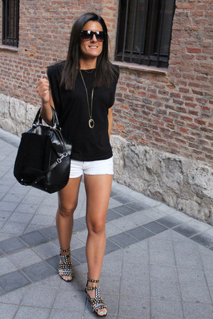 Zara shorts - Mango shirt - Zara sandals