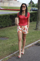 asos bag - Zara shorts - Mango blouse