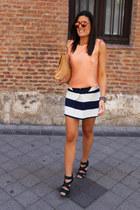 pull&bear skirt - Zara bag - BLANCO blouse