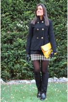 Zara coat - H&M sweater - asos bag