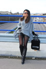 Zara-boots-zara-bag-stradivarius-shorts-uterqüe-gloves-zara-cape