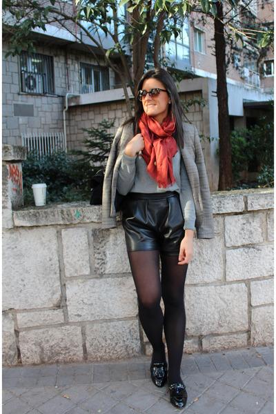 Zara blazer - Parfois shoes - Zara shorts