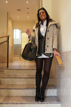 Bershka shoes - Zara coat - Bershka jacket