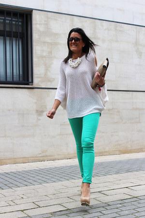 Zara bag - Stradivarius sweater - Zara necklace - Zara pants - Zara heels