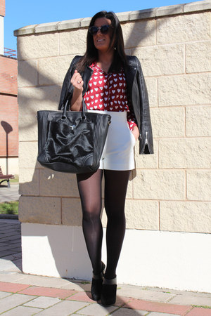 Zara bag - Choies shirt - Zara shorts