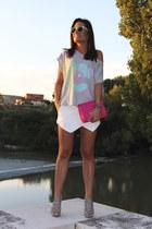 Zara skirt - The Hip Tee t-shirt - Zara heels