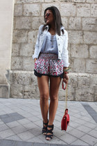 Bershka bag - Zara shorts - Bershka blouse
