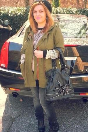 Zara jacket - Jessica Simpson boots - Zara jeans - calvin klein hat