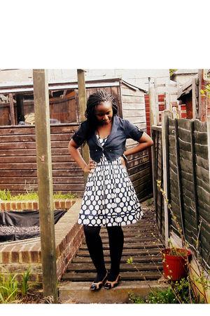 Portobello Punk coat - new look dress - H&M stockings - Monsoon shoes