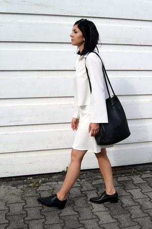 black H&M shoes - black markberg bag - white BNKR shorts - white BNKR top