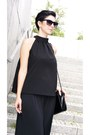 Black-zara-bag-black-cubus-sunglasses-black-palazzo-h-m-pants