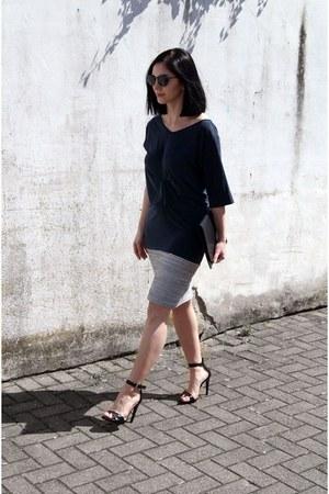 black Mai Piu shoes - navy Carla Pontes dress - black Studio Cosima bag