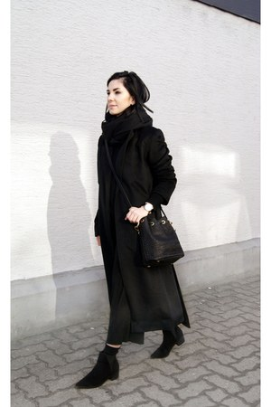 black sammydress coat - black turtleneck Mango sweater