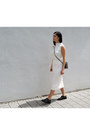 Black-h-m-shoes-white-mango-skirt-white-achro-top
