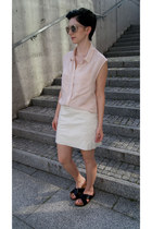 black H&M shoes - neutral H&M sunglasses - light pink H&M blouse