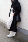 White-zara-shoes-black-sammydress-coat-black-cubus-scarf