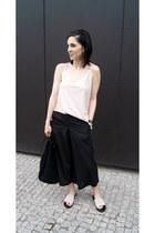 beige Mango shoes - black Mango bag - black Sheinside pants