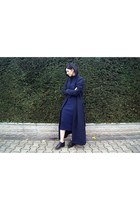 black reserved shoes - knitted The Fifth Lebel dress - navy The Fifth Lebel coat