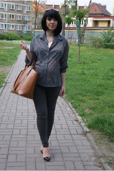 Zara Basic Shopper Bag Bronze Shopper Zara Bag Dark