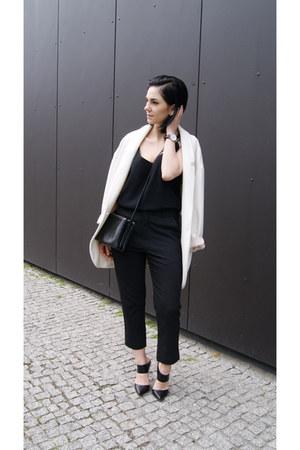 black Jessica Buurman shoes - white Zara jacket - black Jessica Buurman bag