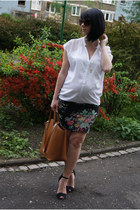 red New Yorker skirt - tawny Zara bag - dark brown Cubus sunglasses