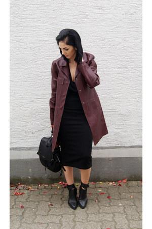 black backpack pauls boutique bag - crimson leather Zara coat