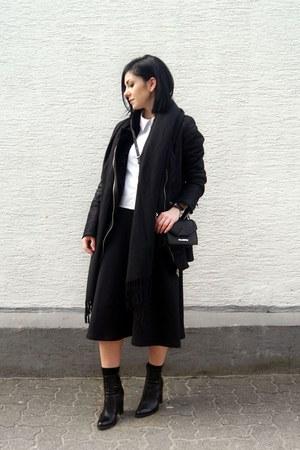 black Zara shoes - black Stradivarius jacket - white Selcouth shirt