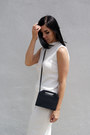 Black-h-m-shoes-white-mango-skirt-white-achro-top