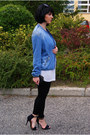 Black-cubus-sunglasses-blue-zara-jacket-white-h-m-top-black-zara-heels