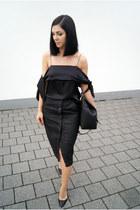 black Jagga Footwear shoes - black Hieleven bag - black Stay Sunny Chicago skirt