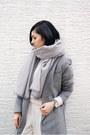 Silver-sheinside-coat-white-the-fifth-via-bnkr-sweater-silver-the-sept-scarf
