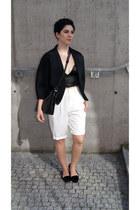 bralet Choies top - faux fur Stradivarius shoes - kimono Front Row Shop coat